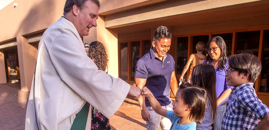 Deacon Meets Young Parishioners 1