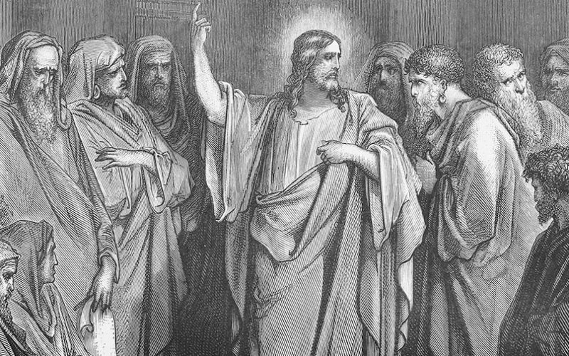 Jesus Preaches in the Synagogue