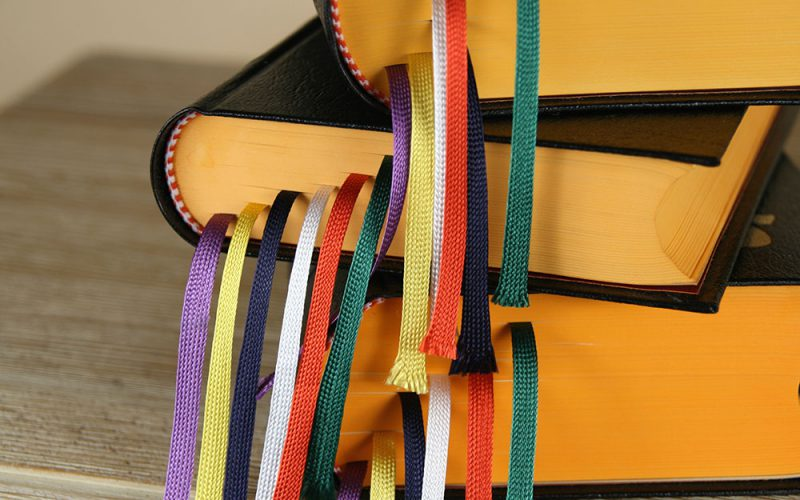 Book with ribbons
